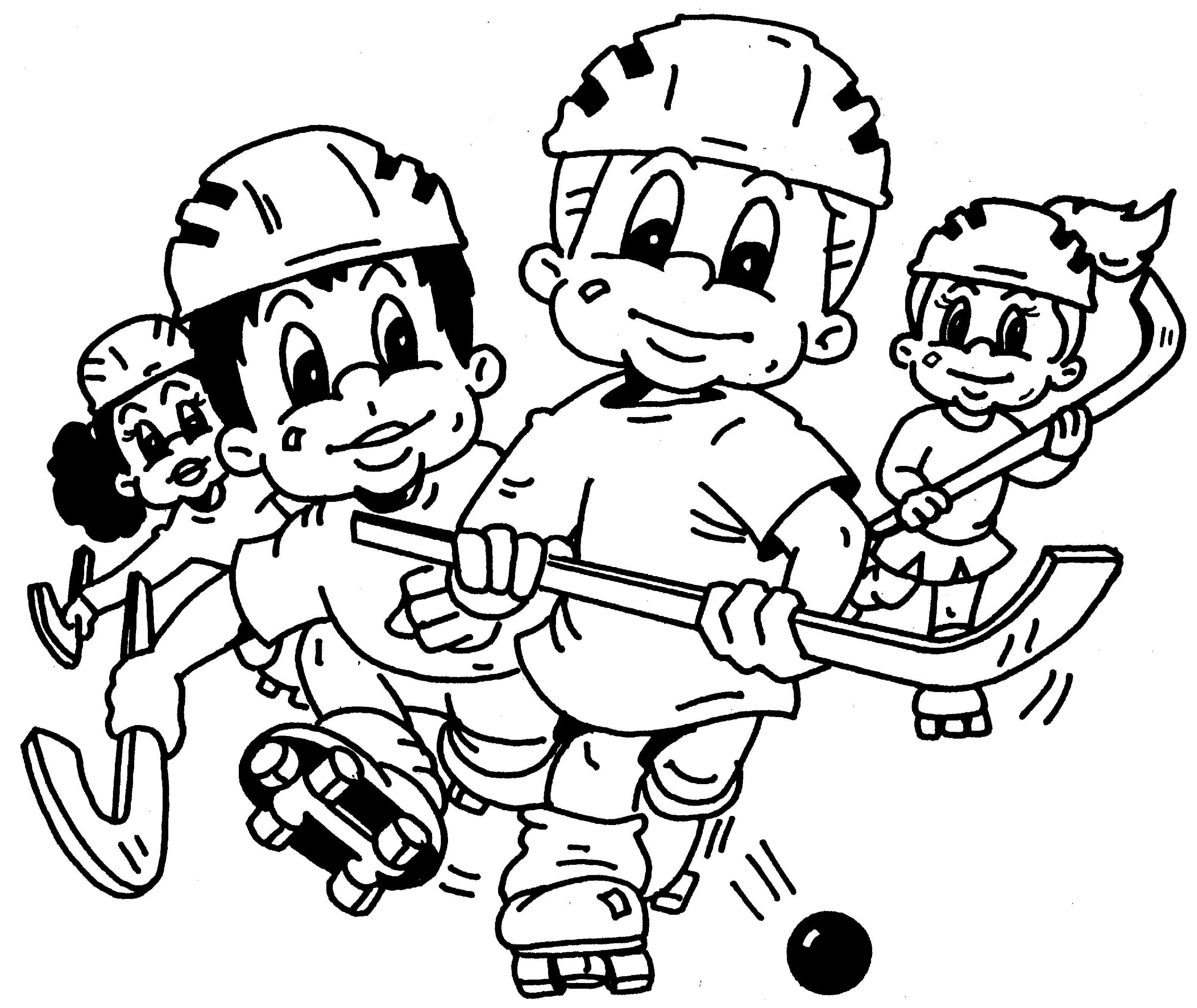 3158x2661 Coloring Pages Surprising Hockey Kids New