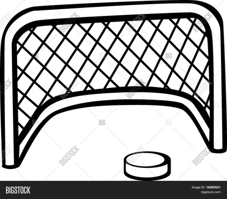 1500x1313 Hockey Puck Goal Net Vector Amp Photo Bigstock