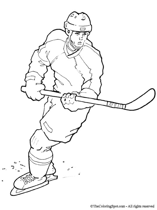 hockey players coloring pages | Hockey Player Drawing at GetDrawings.com | Free for ...