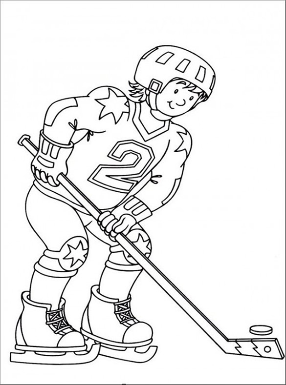 Hockey Players Drawing