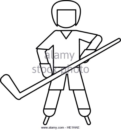 502x540 Hockey Player Black And White Stock Photos Amp Images