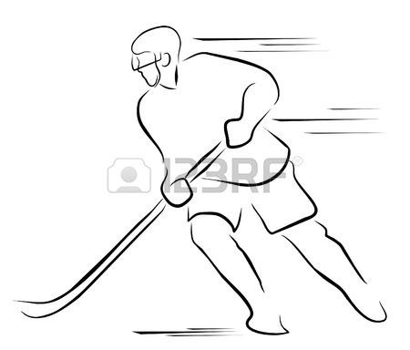 450x384 Hockey Player Illustration Royalty Free Cliparts, Vectors,