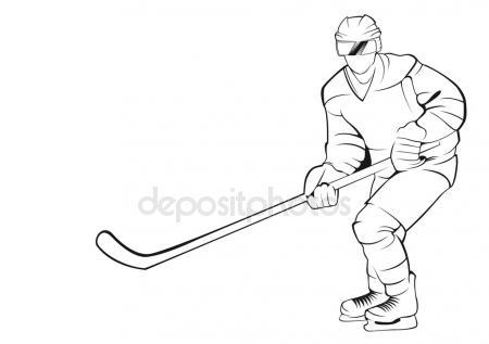 450x317 Hockey Player, Silhouette Stock Vector Chebanova