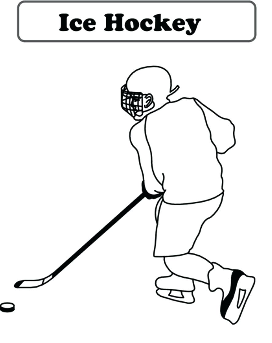 886x1114 Coloring Hockey Player Coloring Page