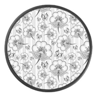 324x324 Flowers Pattern Hockey Pucks Zazzle