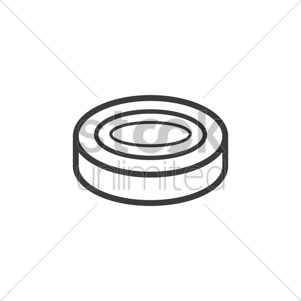 600x600 Ice Hockey Puck Vector Image