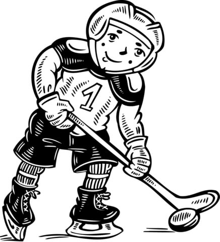 436x480 Child Hockey Player Coloring Page Free Printable Coloring Pages