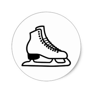 324x324 Hockey Skates Stickers Zazzle
