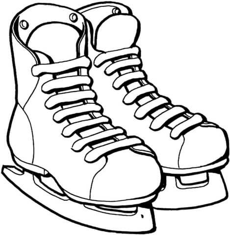469x480 Ice Skates Coloring Page Free Printable Coloring Pages