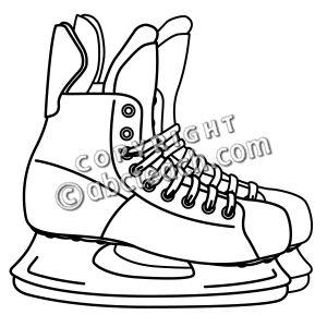 300x300 Old Hockey Skates With Scarf Hanging On A Wall Hockey