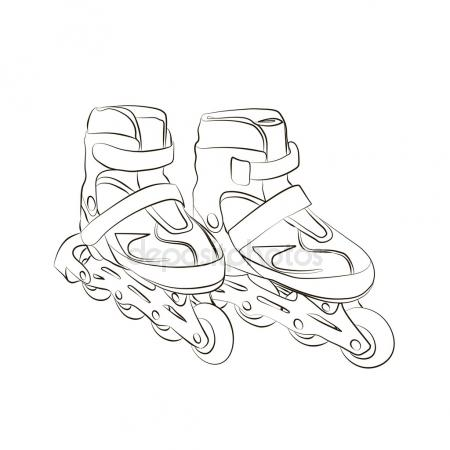 450x450 Pair Of Hockey Skates Isolated On White Background Stock Vector