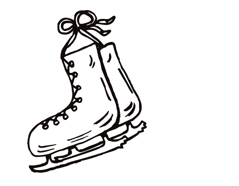 810x630 Printable Ice Skate Coloring Page
