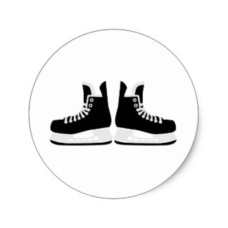 324x324 Hockey Skate Stickers Zazzle