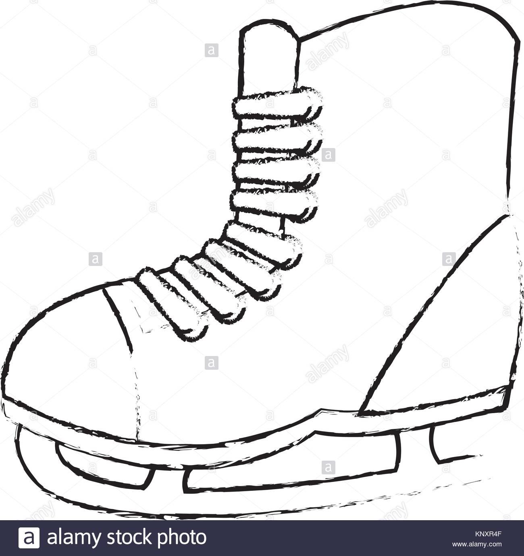 1300x1382 Ice Skates Black And White Stock Photos Amp Images