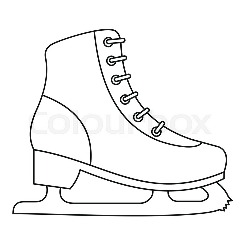 800x800 Ice Skate Icon. Outline Illustration Of Ice Skate Vector Icon