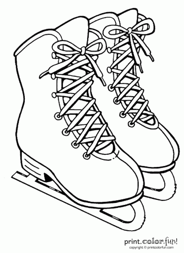 363x500 Ice Skates Coloring Page