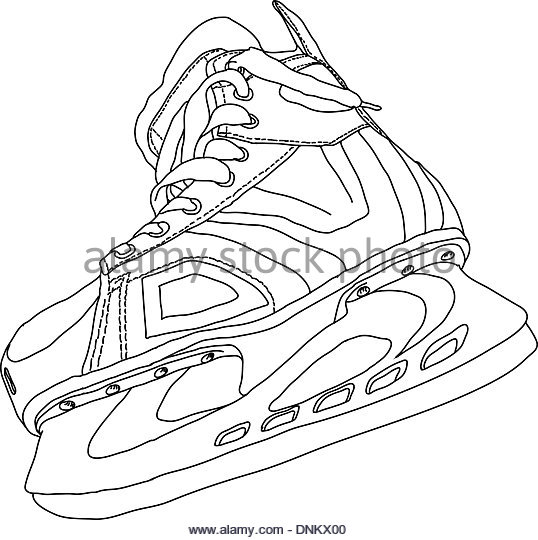 538x540 Illustrated Ice Hockey Skate Stock Photos Amp Illustrated Ice Hockey