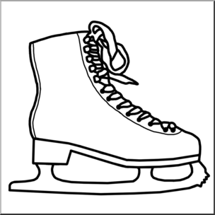 304x304 Clip Art Ice Skate Bampw I Abcteach