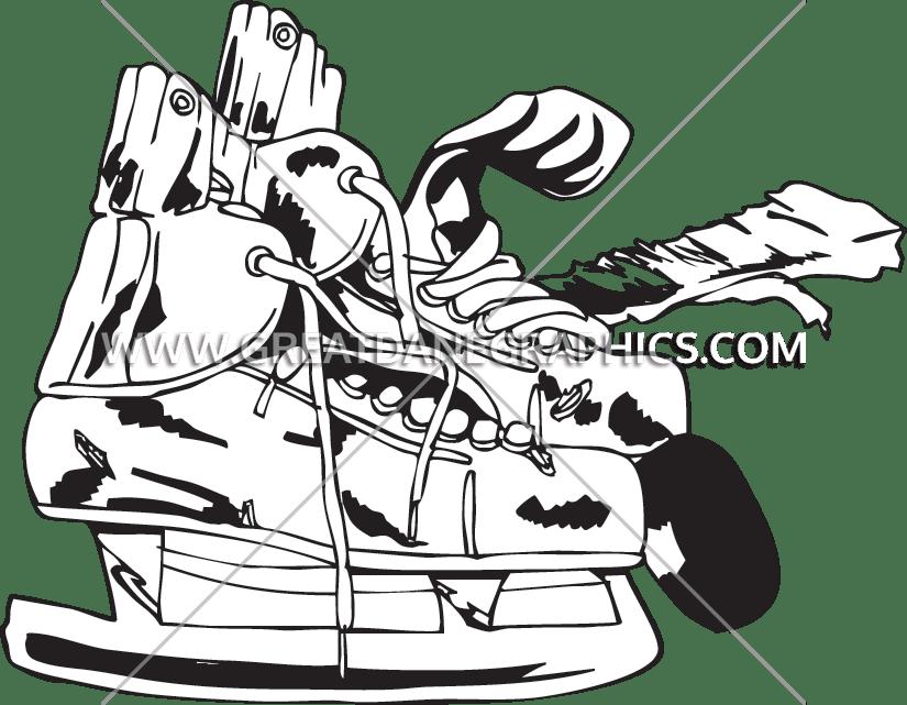 825x641 Retro Hockey Skates Production Ready Artwork For T Shirt Printing