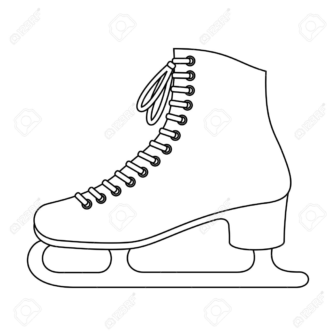 1300x1300 White Clipart Ice Skate