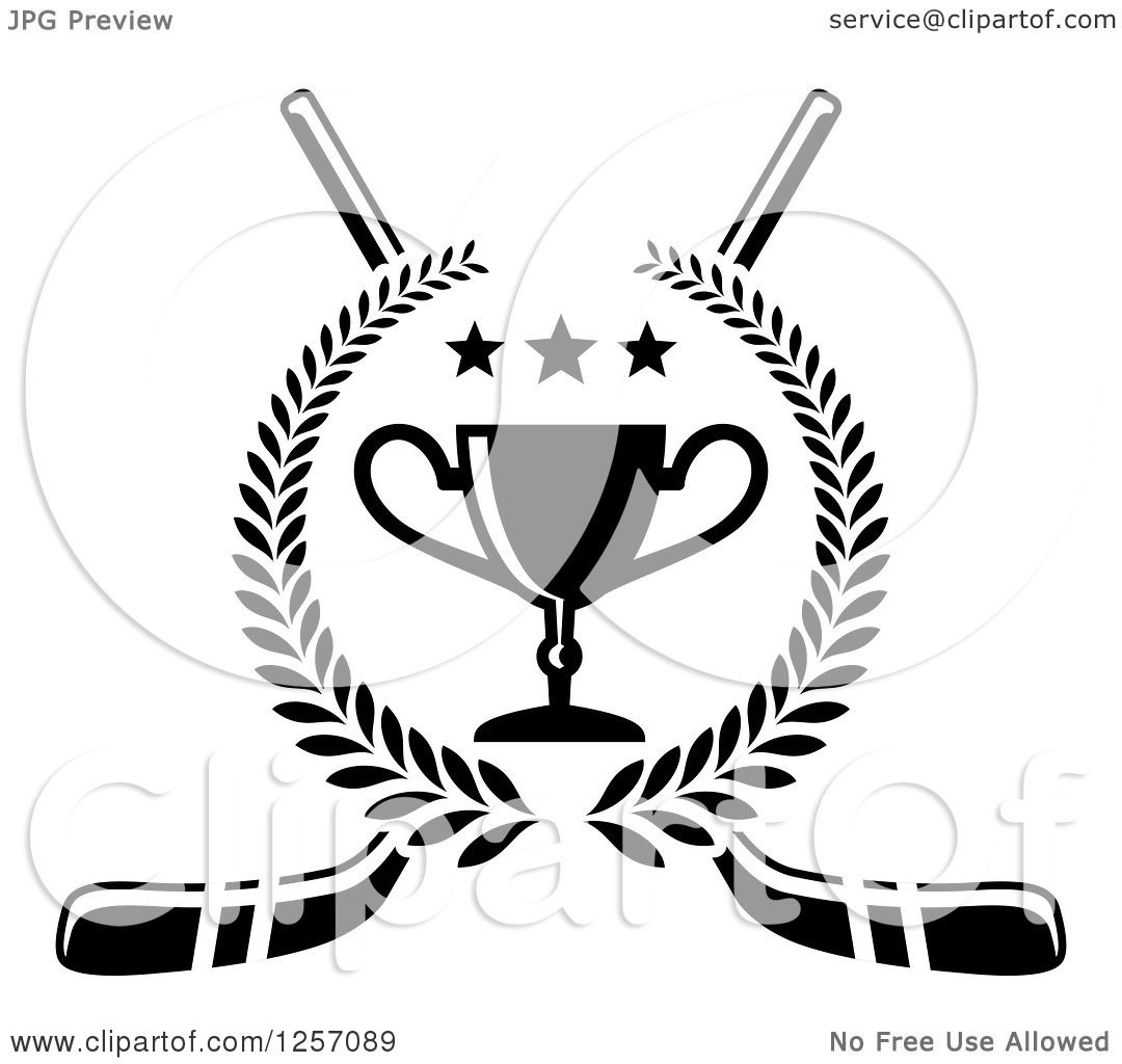 1080x1024 Clipart Of A Black And White Laurel Wreath With A Trophy And Stars