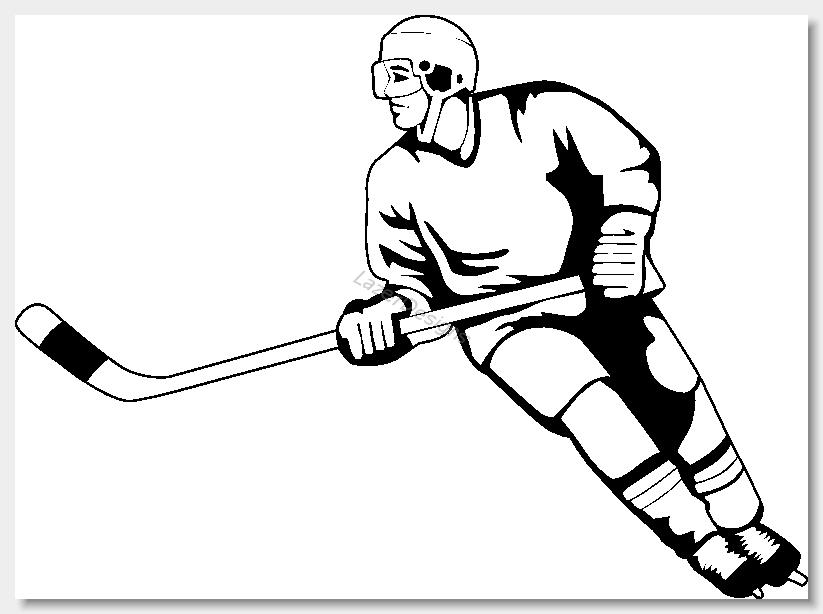 823x614 Ice Hockey Clip Art Clipart 3