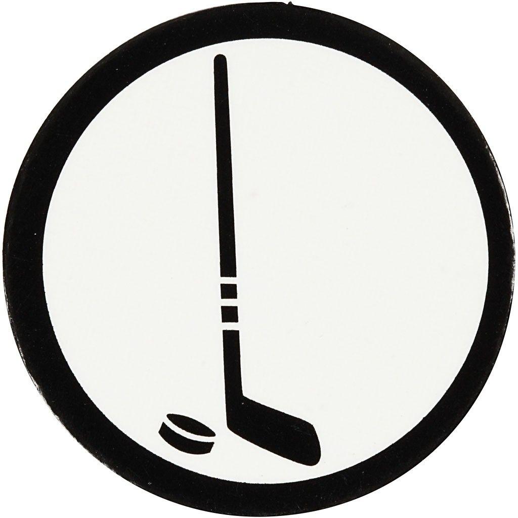 1024x1024 Cardboard Emblem, Whitelack, D 25 Mm, Ice Hockey Stick, 20pcs