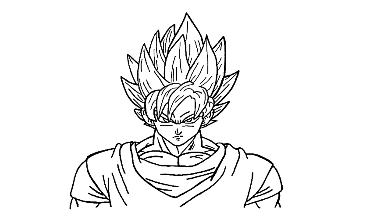 1500x886 How To Draw Goku Super Saiyan (Ssj1)