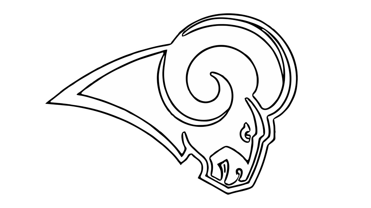 1280x720 How To Draw The Los Angeles Rams Logo (Nfl)