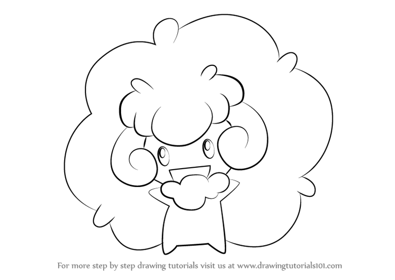 800x566 Learn How To Draw Whimsicott From Pokemon (Pokemon) Step By Step