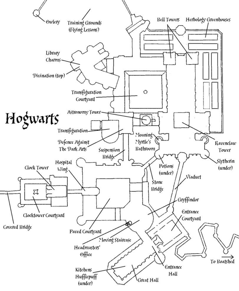 811x985 Hogwarts Castle Plan By Decat