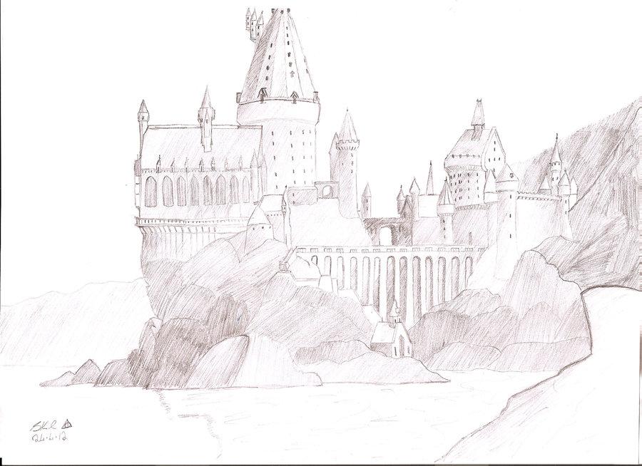 900x654 Hogwarts Castle By Gleekstarkidpotter