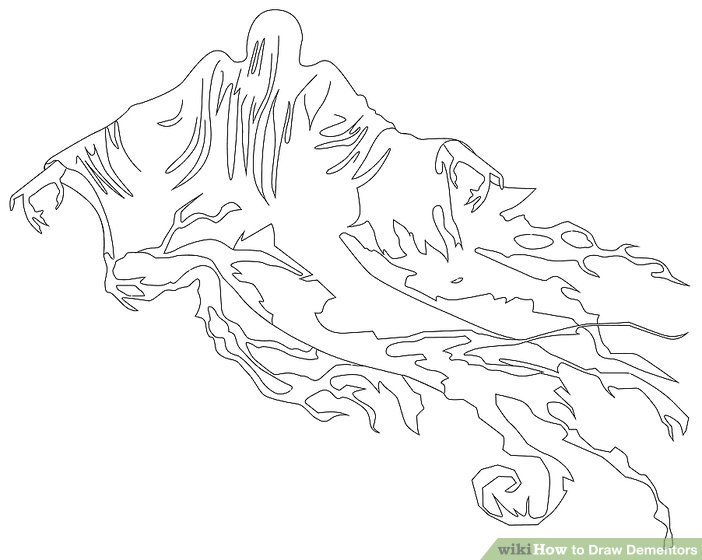 702x560 How To Draw Dementors 7 Steps (With Pictures)