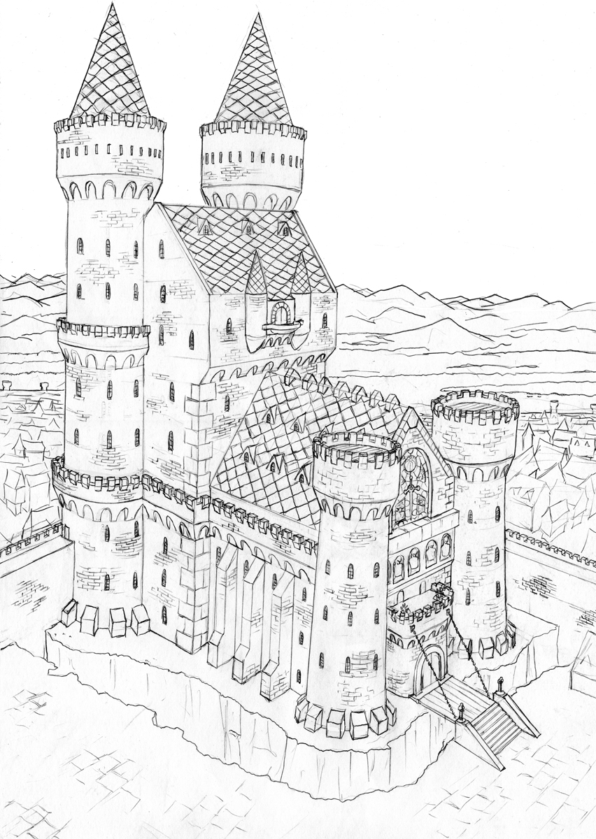 Hogwarts Castle Drawing at GetDrawings | Free download