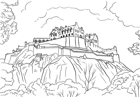 480x333 Edinburgh Castle Coloring Page Free Printable Coloring Pages