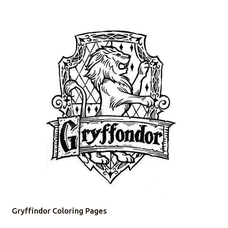 760x760 Harry Potter Gryffindor Crest Coloring Page For Gryffindor