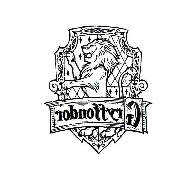 760x760 Hogwarts Crest Coloring Page Harry Potter