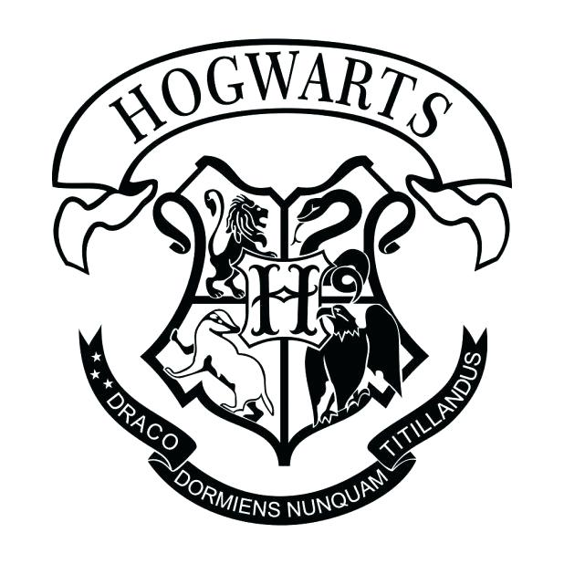 618x618 Hogwarts Crest Coloring Page Pin Drawn Log 2 Breathtaking