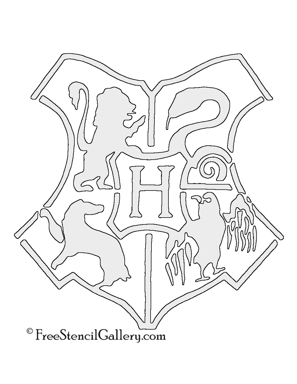 gryffindor crest coloring page - hogwarts crest drawing at free for