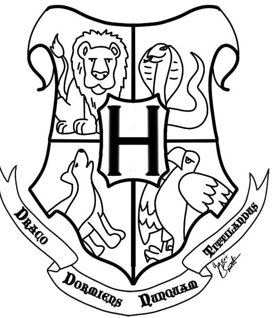 559x653 Hogwarts Crest By Geini