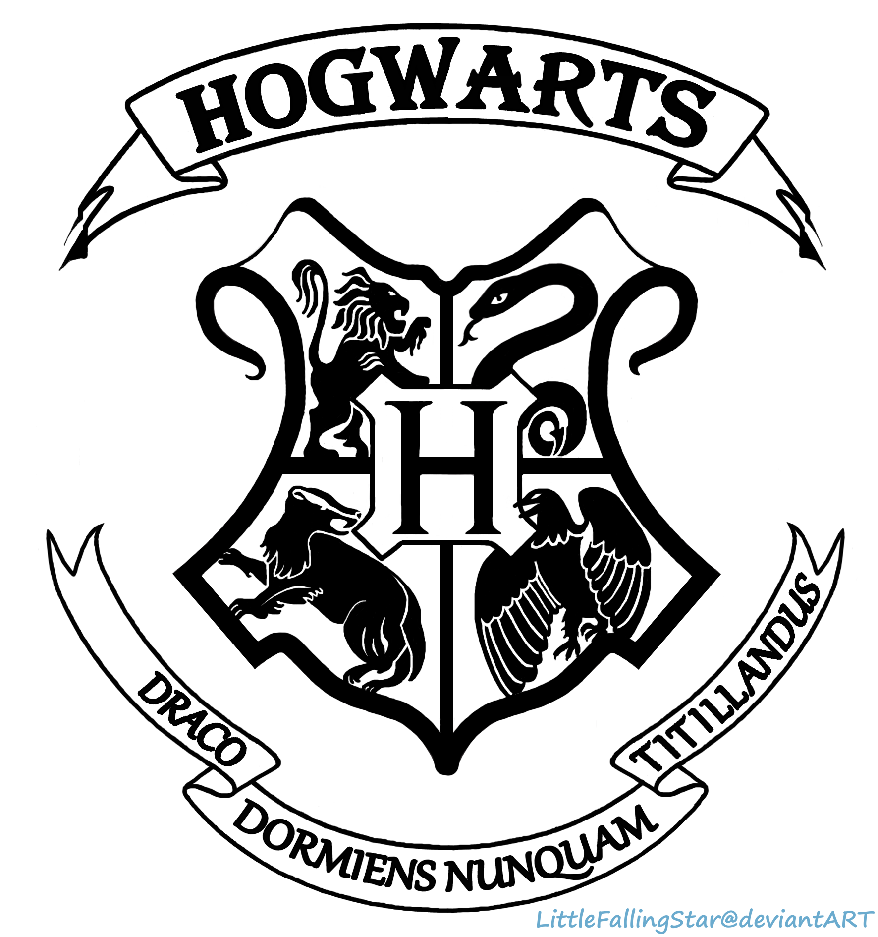 picture relating to Gryffindor Crest Printable called Hogwarts Crest Drawing at  Free of charge for