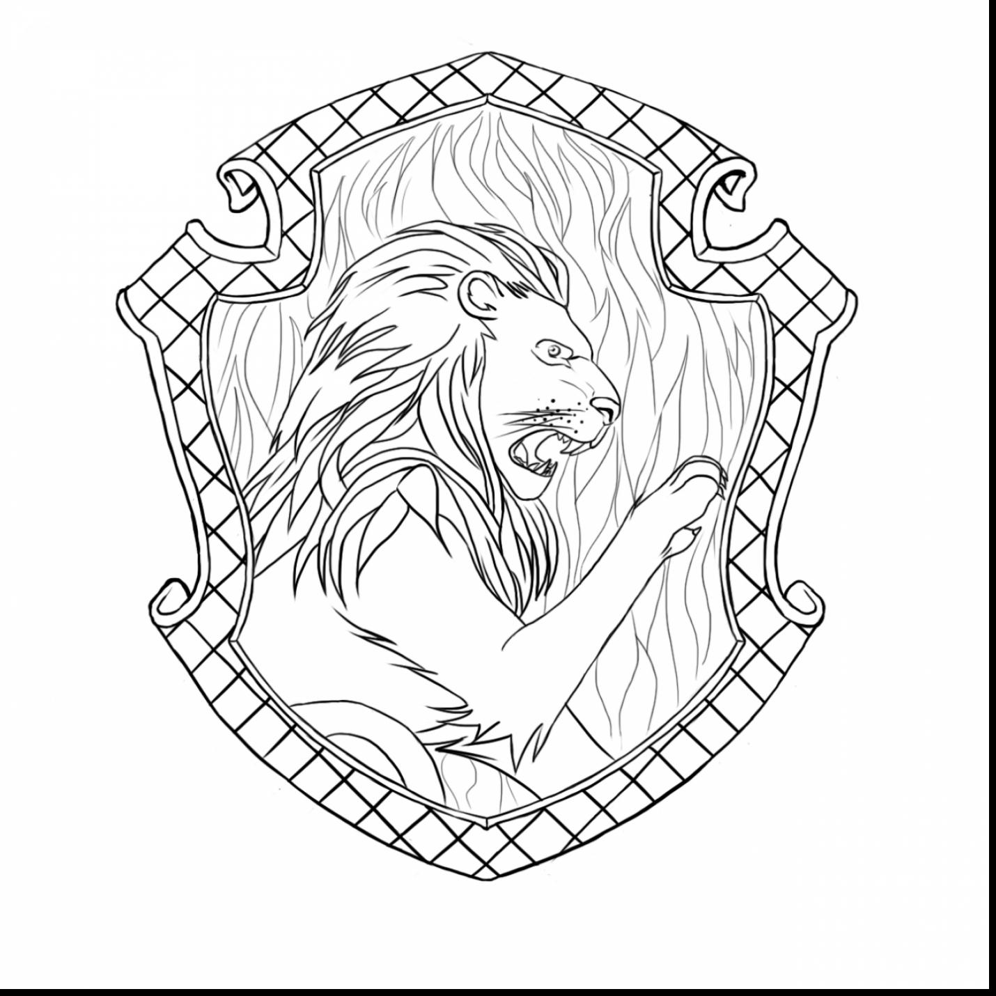 1430x1430 Marvelous Harry Potter Gryffindor Crest Coloring Page With Harry