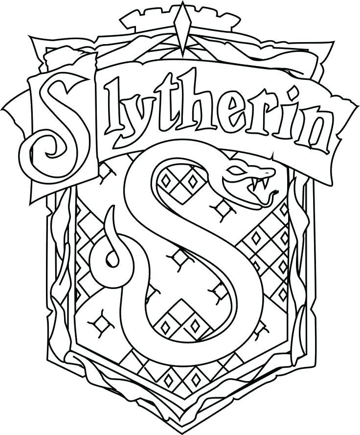 736x888 Gryffindor Crest Coloring Page Harry Potter 6 Hogwarts Crest