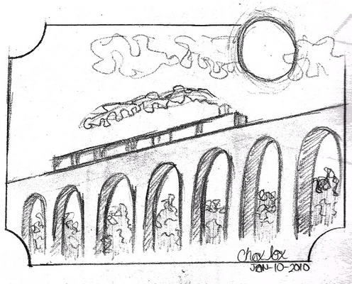 496x400 The Hogwarts Express By Choxbox Sketchbook Sketchbooks