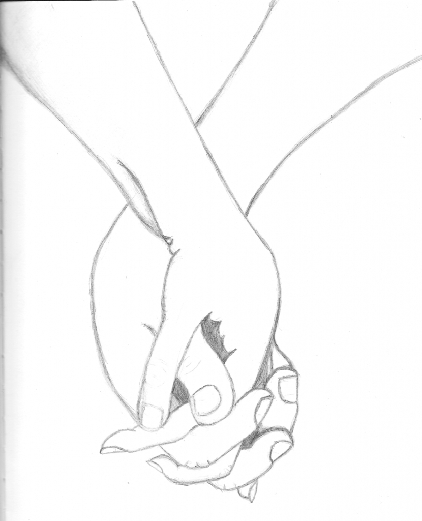 830x1024 Holding Hands Drawing Drawing Of Holding Hands