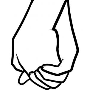 302x302 How To Draw How To Draw Holding Hands For Kids