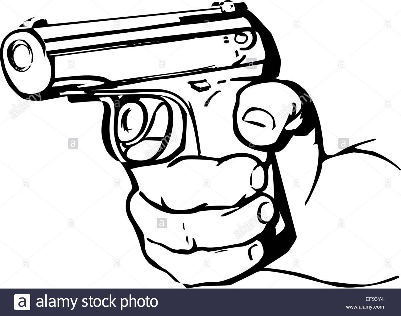 1300x1024 Hand Holding Gun Stock Vector Art Amp Illustration, Vector Image