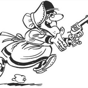 300x300 Lucky Luke Grandma Holding A Gun Coloring Page Coloring Sky