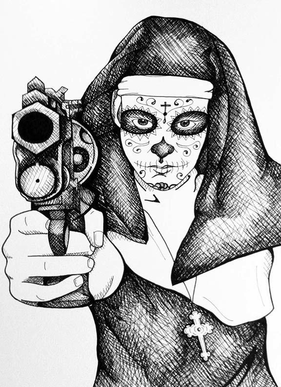 576x794 Nun With A Gun On Behance