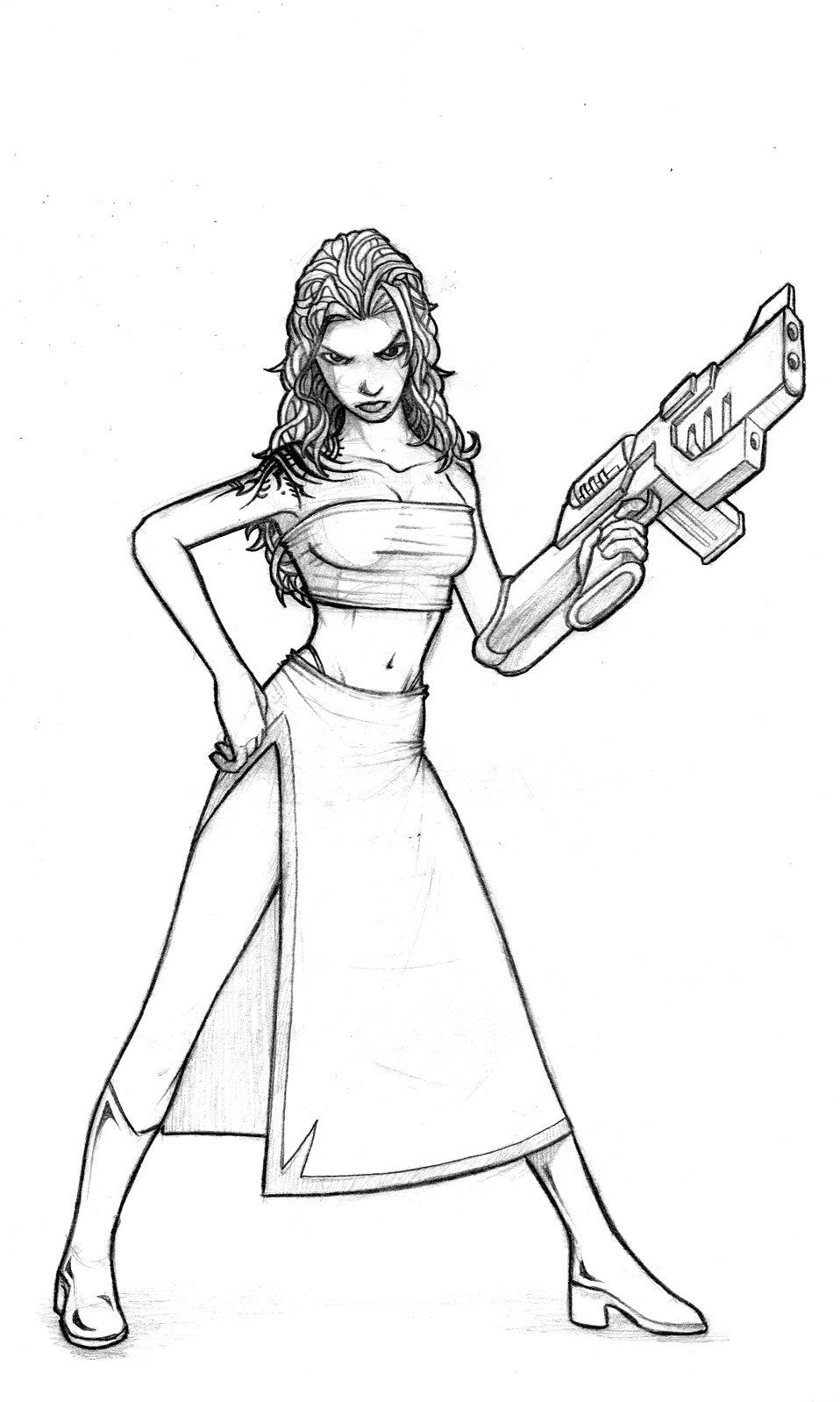 958x1598 Small Girl Big Gun By Genesis